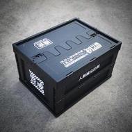 收納箱 整理箱 收納盒 機能折疊式塑料收納箱 軍事風儲物箱家用書本收納神器EVA機械風格