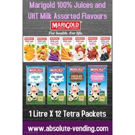 Marigold 100% Juices and UHT Milk Assorted Flavours