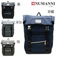 76-605【NUMANNI 奴曼尼】造型拉鍊功能性後背包 (四色)