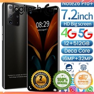 (❆Verne)Note26 Pro+ 5G MT6799 Deca-Core 12GB 512GB 7.2 inch Display Phone + 64GB TF Card