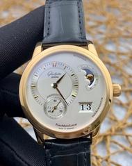 ซื้อต่างประเทศ) Glashütte90-02-01-01-04 เส้นผ่านศูนย์กลาง: 39mm18k ปรับขึ้นทอง (ราคาเดิม 689005 บาท) นาฬิกาเชิงกลอัตโนมัติ (นาฬิกาผู้ชายที่ประสบความสําเร็จ)