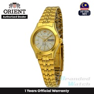 [Official Warranty] Orient FNQ0400FC Women's Analog Automatic Gold Tone 3 Star Gold Stainless Steel Strap Watch