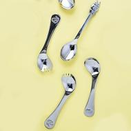 【現貨秒出】摩登主婦 304不銹鋼叉勺 壹體卡通水果沙拉勺 冰淇淋勺 兩用叉勺