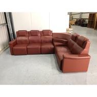 財藝二手家具~喜氣紅皮製L型沙發組-KTV沙發-皮沙發-客廳沙發-辦公沙發-洽談椅-餐廳沙發-沙發椅