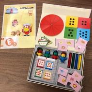 二手  大班(上學期)--MPM math E 數學教材--操作寶盒配件+書本 有書寫痕跡
