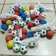 【樂達玩具】台灣製 10入裝 約3.8公分 彈力球 彈跳球 ( 足球 & 籃球 ) #9561