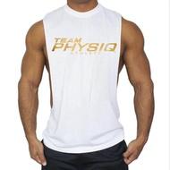ผู้ชายตัวอักษรเสื้อกั๊กฤดูร้อนผู้ชายลำลองหนึ่งตัวถังแฟชั่นเสื้อยืดออกกำลังกายโรงยิม Jogger เสื้อกั๊ก