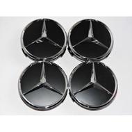 【MKB TUNING】 Mercedes Benz 賓士 原廠 輪圈 中心蓋 鋁圈蓋 黑色