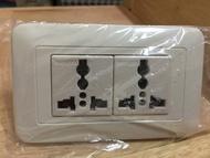 萬寶 Wonpro 萬用插座 接地雙插 插線式
