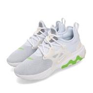 【NIKE 耐吉】休閒鞋 React Presto 運動 女鞋 輕量 透氣 舒適 避震 魚骨 穿搭 淺藍 白(CD9015-401)