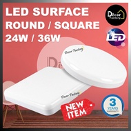 """LED Surface Downlight Round / Square 24W 7"""" 36W 9"""" Surface Mounted Downlight White (SUPER BRIGHT) 7inch 9inch"""