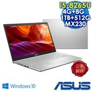 ASUS X509FJ-0131S8265U  冰河銀 升級特仕版 15吋筆電     ( i5-8265U/4G+8G/1TB+PCIE 512G SSD/MX 230 2G/FHD/W10)