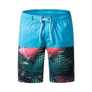 Clothes 2018 Shorts Male Summer Shorts Men Superdry Casual Print Panelled Knee Length Fashion Wear