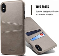 Slim PU Leather Case For Apple iPhone 6 6s 7 8 Plus X XR XS Max  Luxury Back Cover Card Holder Phone Coque Casing