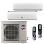 Gree Aircond LOMO-N 1.5HP Non-Inverter GWC12QC Including Basic Installation