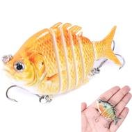 ~廣隆~促銷中-顏色隨機 亞馬遜羅非魚 6節魚6.35cm-9.3g 多節魚 假餌 路亞餌 仿生餌 擬餌 泳姿逼真