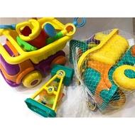 沙漏大砂石車 沙灘玩具組 8件組