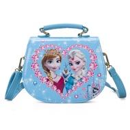 อนุบาลสาวแช่แข็งเจ้าหญิงกระเป๋าสะพายไหล่PUเด็กการ์ตูนเอลซากระเป๋าถือกระเป๋าเดินทางกระเป๋าสะพายข้าง-ในกระเป๋าสะพายข้างจากกระเป๋า