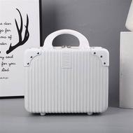 กระเป๋าเดินทางแบบพกพาวินเทจผู้หญิง14-กล่องใส่เครื่องสำอางค์ขนาดนิ้ว16รหัสผ่านกล่องมินินิ้วถุงเก็บน้ำหนักเบาขนาดเล็ก