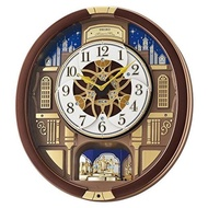 Seiko Melodies In Motion Wood Wall Clock Color:Brown (Model: QXM362BRH)