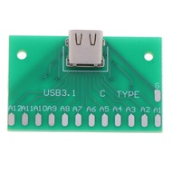 LargeLooking TYPE-C Female Head Test Board USB 3.1 Connector Board With PCB Board 24P Base