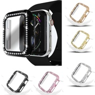 QIANGNAN6 Gift 38mm 40mm 42mm 44mm All Around Protection Bling Compatible with Iwatch Diamond For Apple Watch SE Protective Case