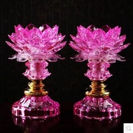 A pair Buddha with a lotus flower Buddha for the lamp long light Buddha lamp LED crystal
