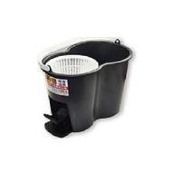 免運費〉雙動力脫水桶可搭配手壓式拖把桿可腳踩省力手壓式旋轉拖把腳踩水桶子拖把桿