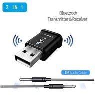2 in 1 USB Bluetooth Transmitter Receiver 5.0 Computer TV Speaker Car Wireless Bluetooth Adapter