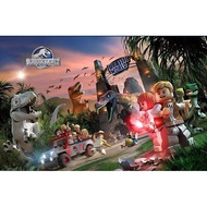 yxy 【Hot】Jurassic Park Rex Lego Building Blocks Dinosaur Toys 030-036 Kids Educational Toys Collection birthday gift