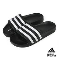 Adidas 黑色 橡膠 防水 涼拖鞋 男女款NO.H2908【新竹皇家 F35543】