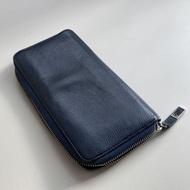 Dior homme 藍色牛皮拉鍊長夾