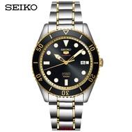 日本代購 精工(SEIKO)手錶 SEIKO5號運動系列 黑金水鬼夜光 機械男錶 SRPB94J1