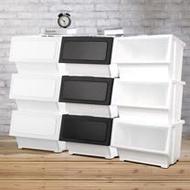 【HOUSE】大容量掀蓋式可堆疊玩具衣物收納箱-39L 三色可選