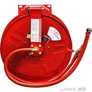 消防水管軟管自救卷盤軟盤水龍帶轉盤20米25米消火栓箱器材水喉管