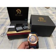 凱撒王 全新機械錶 皮錶帶