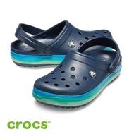 【Crocs 卡駱馳】中性 / 波浪紋卡駱班--205573-4HQ-藍彩navy/multi / 原價1780元