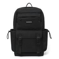 KANGOL【6055320320】英國袋鼠 後背包 電腦包 學生包 帆布 多夾層 黑色