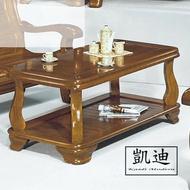 【凱迪家具】F16-16-13 266型樟木色大茶几(面半實木) /大雙北市區滿五千元免運費