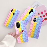 Huawei Nova 5T 8 7 6 5 4 Pro 7 SE 3i 2S Pop Push It Bubble Phone Cases For Huawei Y7A P40 P30 Pro Pop it Silicone Rainbow Cover Relive Stress