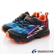 日本月星Moonstar機能童鞋閃電競速衝刺系列運動鞋款9538黑(中大童段)