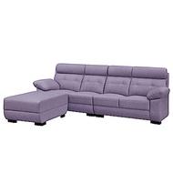 文創集 艾波時尚貓抓皮革L型沙發組合(四人座+椅凳)-270x153x99cm-免組
