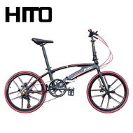 🎉)Hito Foldable Bicycle 20/22 inch X6 Outdoor Sports Bike Aviation Technology (high Quality Aluminum Installation-FreeFree installation Free