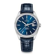 【TITONI 梅花錶】宇宙系列 878 S-ST-612 紳士藍/皮帶/41mm(COSMO)
