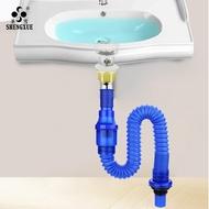 面盆下水管 可伸縮排水管直排去水管防臭洗臉盆臺盆下水器軟管1入