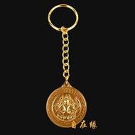 開光鎦金準提鏡鑰匙扣護身鏡掛件 準提佛母法準提菩薩佛教用品