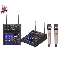 YAMAHA G4 POWER MIXER 4 Channels USB bluetooth WITH 2 PCS NICE QUALITY WIRELESS MICROPHONE