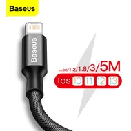 Baseus 0.25m/0.6m/1.2m/1.8m/3m/5m USB Cable Fast Charging For iPhone 12 Pro Max mini 11 Pro Xs Max Xr X 8 7 6 6s 5 5s iPad Charger cable
