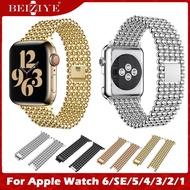 Stainless Steel Metal Strap สายนาฬิกา for apple watch 6 Band  สาย Business Replacement Band สายรัดข้อมือไนล่อน for apple watch series 6 se 5 4 3 2 1 38mm 40mm 42mm 44mm Strap