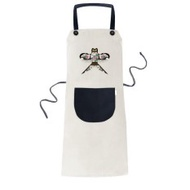 Chinese Culture Traditional Kite Pattern Cooking Kitchen Beige Adjustable Bib Apron Pocket Women Men Chef Gift - intl
